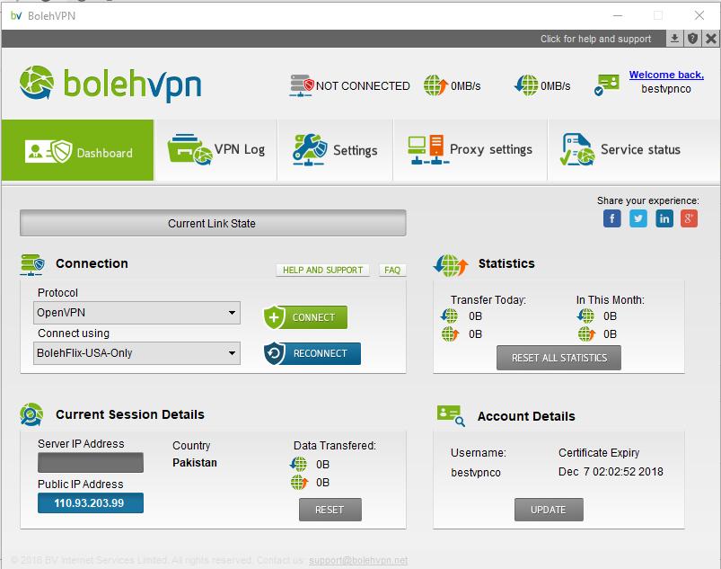 Bolehvpn windows client app