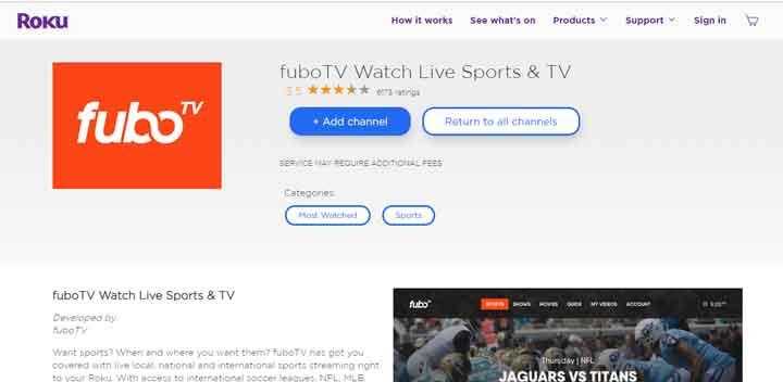 fubo-tv for ufc 229 on roku