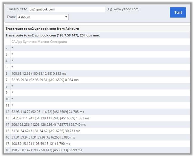 VPNBook Virtual Servers Testing