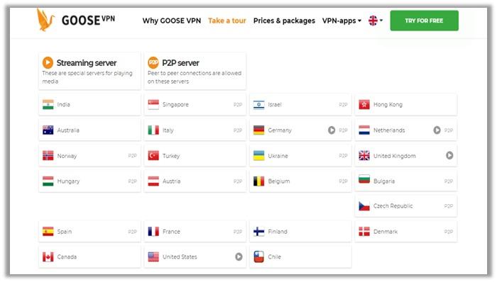 GOOSE VPN P2P-Torrenting Review