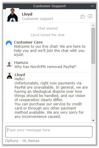 PayPal Customer Support Answer