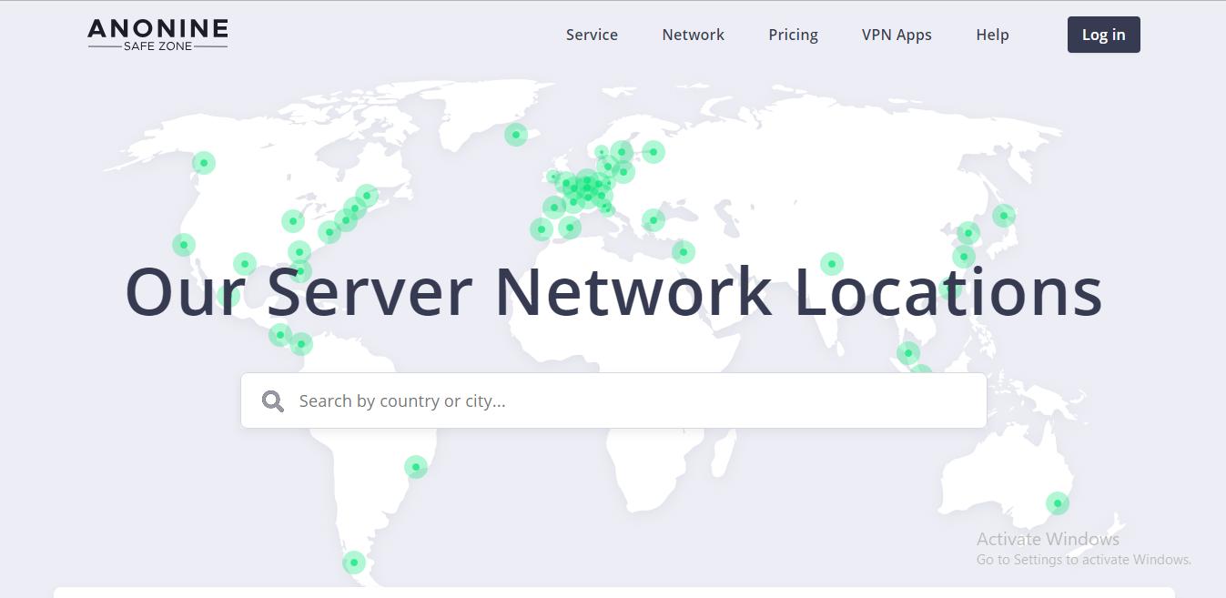 anonine vpn server locations