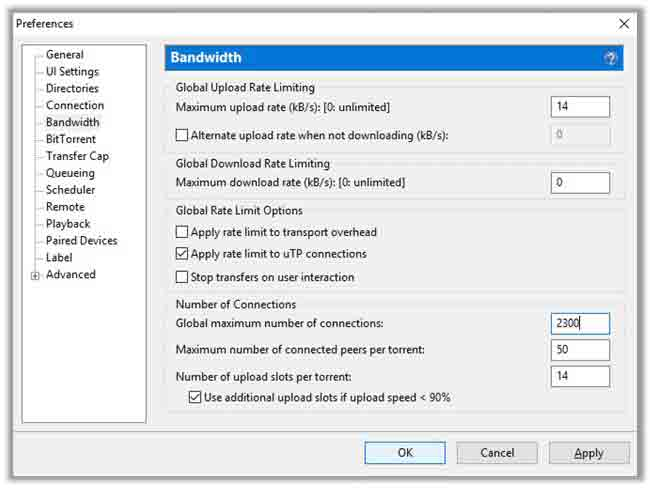 "Configure-the-""Bandwidth""-Settings-for-Maximum-Speed"