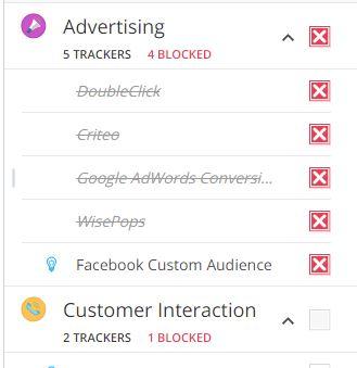 Die Website bietet Adware Social Media und Verhaltensüberwachung