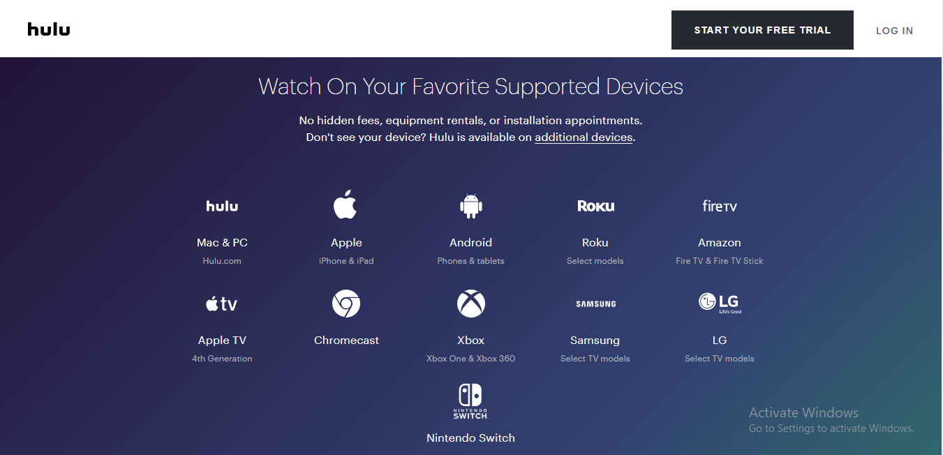 hulu-supported-devices