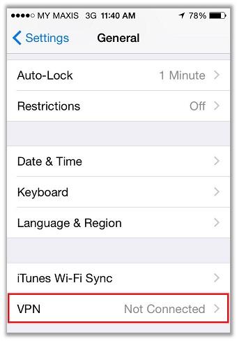 Configuring a VPN Manually on iOS