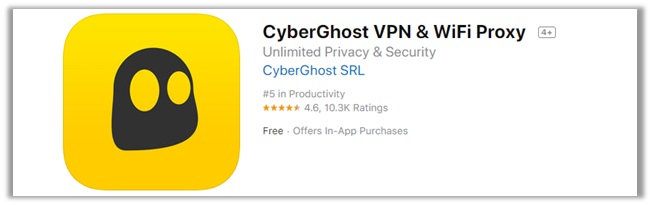 CyberGhost iTunes Rating