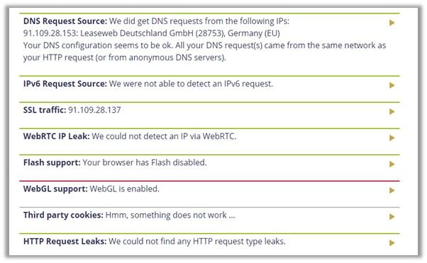 ExpressVPN DoILeak Test Germany Server