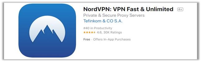 NordVPN iTunes Rating