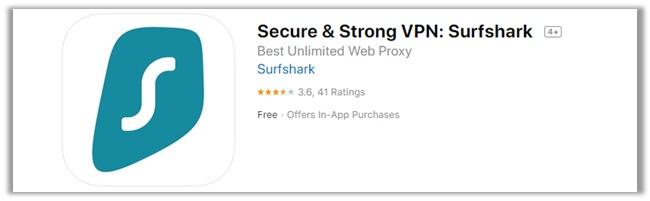 Surfshark iTunes Rating