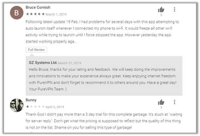 What are Users Saying about PureVPN