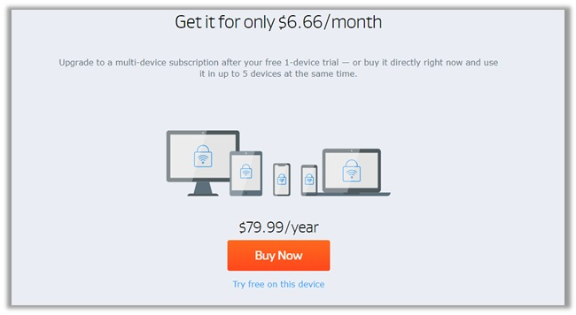 AVG Secure VPN Pricing