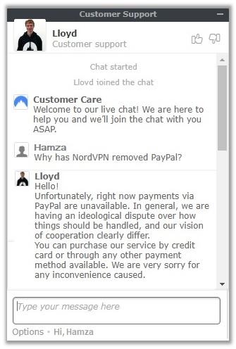 Antwort vom PayPal-Kundensupport