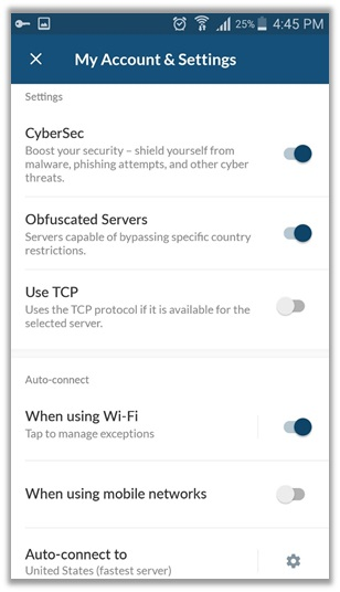 Nord VPN für Android