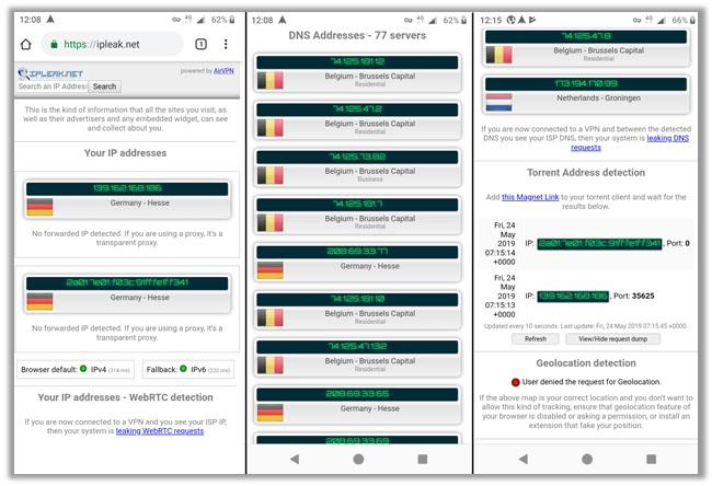 Yoga VPN IP WebRTC DNS Leak Testing