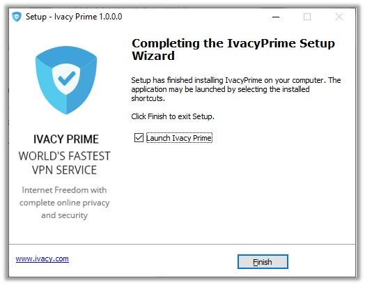 IvacyPrime Setup
