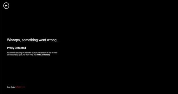 Netflix proxy error